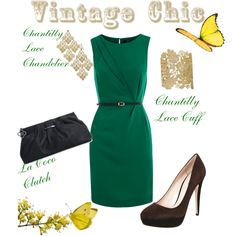 Vintage Chic, created by thelifeoftheparty on Polyvore featuring the Stella & Dot - Chantilly Lace Cuff
