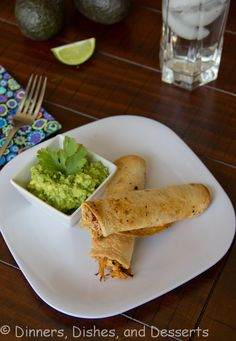 Baked Chicken Taquitos from @Dinners, Dishes, and Desserts