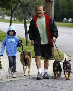 James Belushi and his own GSD pack:) Celebrities love GSDs too:P