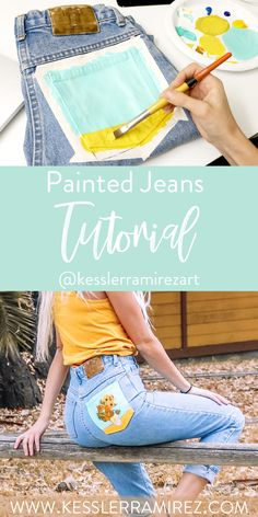 579e63f443 Everything you need to know to paint your own jeans pocket at home! How to