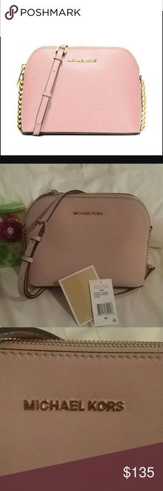 c44290effdd5 ... handbag bc764 6f392; clearance michael kors cindy dome crossbody new  michael kors new dusty pink color with hold hardware