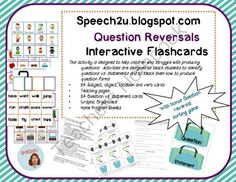 Question Reversals: Interactive Flashcards from Speech2U Materials on TeachersNotebook.com (35 pages)  - Help students understand question reversal forms by adding a physical component.