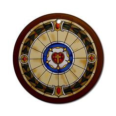 Luther Rose Window Ornament