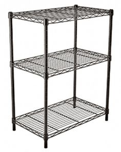 [Toy Storage Ideas] Finnhomy Supreme Steel Wire Shelving Unit with Stable Leveling Feet, 3 Shelves Wire Rack Shelving, Thicken Steel Tube Black *** For more information, visit image link. (This is an affiliate link) Wire Rack Shelving, Wire Shelving Units, Wire Racks, Rack Shelf, Metal Shelves, Storage Shelves, Kitchen Storage, Storage Spaces, Cheap Storage