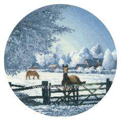Buy Hard Frost Cross Stitch Kit Online at www.sewandso.co.uk
