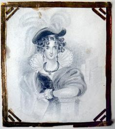 Early drawing by Charlotte Bronte