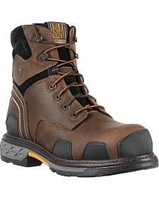 """Ariat Overdrive 6"""" Lace-Up Work Boots - Composite Toe"""