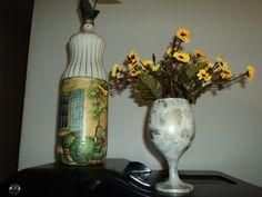 Garrafas e Taças Decorativas
