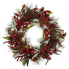 Custom & Unique Inches) 1 Single Large Size Decorative Holiday Wreath for Door, Made of Resin w/Artificial Festive Vibrant Colorful Crimson Holly Berries Pine Branches Style (Red, Brown, & Green) Pine Cone Christmas Tree, Christmas Tree Ornaments, Christmas Ideas, Holiday Wreaths, Holiday Crafts, Holiday Decor, Berry Wreath, Holly Berries, All Holidays
