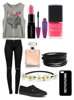 """""""Untitled #15"""" by shamya2003 ❤ liked on Polyvore featuring J Brand, Vans, Smashbox, Chanel, Maybelline, Lane Bryant, Pieces and Impulse"""