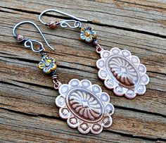 Earrings Everyday: Throwback Thursday - Concho Flowers