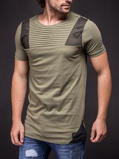 Kuegou Classic Color Block T-Shirt Code: 20126694 - Men's T-Shirts ...