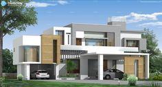 Residential exterior design for Kurikkal Family at Manjeri, Kerala