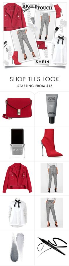 """""""SHEIN"""" by smajlovicelvira ❤ liked on Polyvore featuring By Terry, MANGO, MAKE UP FOR EVER, Context, Casadei, Brunello Cucinelli, Clé de Peau Beauté, Bobbi Brown Cosmetics, contest and red"""