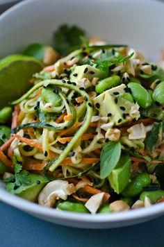 scaling back - Thai peanut zucchini noodles