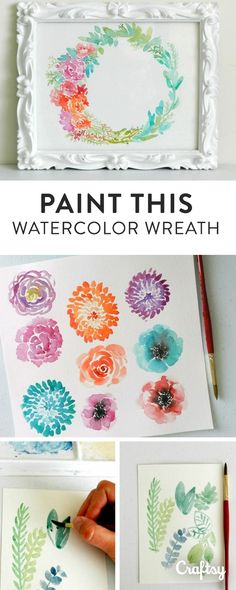 Paint a lush floral watercolor wreath to use as home decor, a logo or something else. We've got 7 expert tips for painting beautiful wreaths in watercolor.