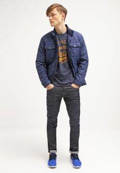 Jack & Jones - JJORRAFFA  - T-shirt imprimé - dress blues