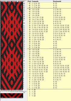 20 tarjetas, 2 colores, repite cada 20 movimientos // sed_307 diseñado en GTT༺❁