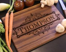 Personalized Cutting Board Christmas Gift Bridal Shower Gift Wedding Gift Engraved (Item Number MHD20020)