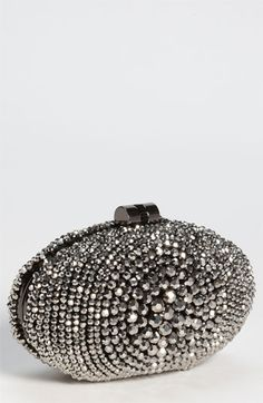 Natasha Couture Crystal Caged Floral Clutch | Nordstrom ...