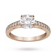 SWAROVSKI Ladies' PVD Rose Plated Attract Ring - Ring Size 58 | Rings | Jewellery | boutique.Goldsmiths