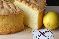 Bizcocho esponjoso de limón sin gluten. Receta apta para celíacos o dietas libres de gluten (gluten free). Muy esponjoso y no se nota que es sin gluten.