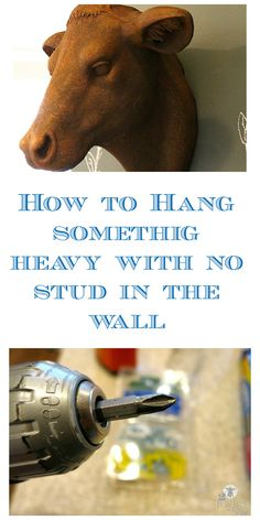 How To Hang Something Heavy When There is No Stud in The Wall - 2 Bees in a Pod