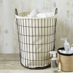 Threshold Wire Laundry Hamper With Liner Beige Products Laundry