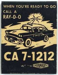 Radio Cabs   A very high contrast image with the phone number in large font. I like the Ray-D-O rather than radio.