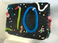 Slither.io cake, am rather pleased with it!