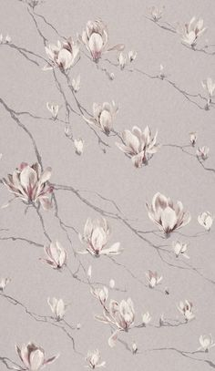 Living room wall coverings available from WCI Wallpapers Pty Ltd Floral Wallpaper Iphone, Flower Wallpaper, Pattern Wallpaper, Small Space Interior Design, Interior Design Living Room, Jaipur, Wallpaper Grey And Beige, Lilac Bedroom, Magnolia Wallpaper