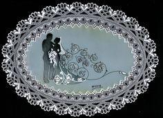 Bruno Piechota Wedding - own design - wedding moment on a lace frame - used dorso in the center of this project