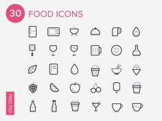 Foto: 30 Iconos de comida gratis para Photoshop   recursos photoshop iconos web 3