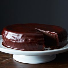 Chocolate cherry cake - made with sour cherry jam | Sam's Favorite Chocolate Cake recipe on Food52