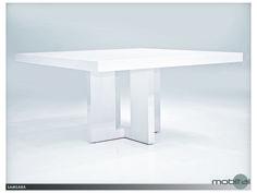 Mobital Samsara White 59'' Square Dining Table