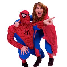 Spiderman and Supergirl save the day