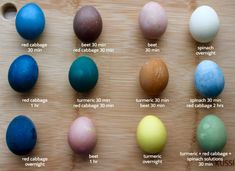 naturally dyed easter eggs - experiment in the kitchen