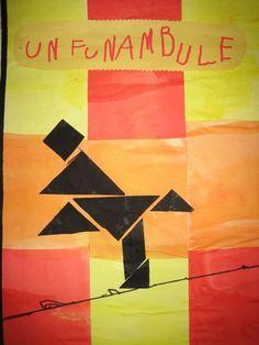 tangram funambule Clown Cirque, Art Du Cirque, Ecole Art, Expressive Art, Wire Art, Art Plastique, All Design, Art For Kids, Activities For Kids