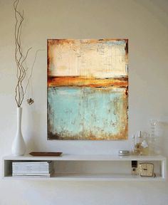 "40"" xxl large PAINTING mixed media  abstract painting painting  wall art from jolina anthony fast and free shipping"