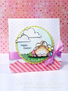 Easter With Newton - Nina-Marie Design  #newtonsnook Cat Stamps by Newton's Nook Designs