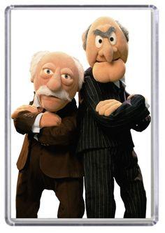 Statler and Waldorf of the Muppet Show (Jim Henson) Muppet Babies, Jim Henson, Emission Tv, Fraggle Rock, Kermit The Frog, Film School, School Tv, Cartoon Characters, Films