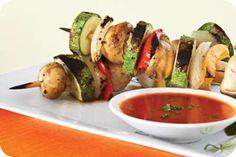 Brochetas de verduras con tempé!