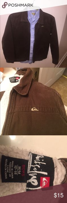 Youth brown jacket  like new quiksilver brown nice jacket Quiksilver Jackets & Coats