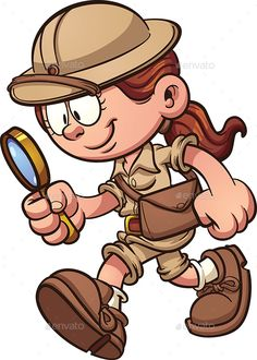 Buy Safari Girl by memoangeles on GraphicRiver. Cartoon safari girl looking through a magnifying glass. Vector clip art illustration with simple gradients. Illustrations, Illustration Art, School Scavenger Hunt, Character Concept, Character Design, Space Coloring Pages, Library Themes, Funny Drawings, Safari Theme
