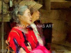 160 Ladies Waiting On A Bus by Richard Neuman Digital Media ~ 18 x 24