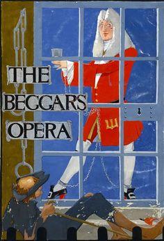 "Modern British Art Works by Catherine Olive Moody: ""The beggars opera, circa Royal College Of Art, Gouache Painting, Art School, Modern Art, Opera, British, Baseball Cards, Illustration, Opera House"