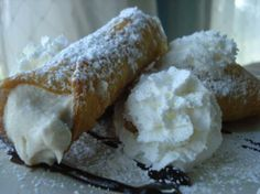 Cannoli from Food.com: This is one of my favorite Italian desserts and the perfect ending to any Italian dinner. The shells are pretty simple to make, and taste so much better than the ready-made shells you buy in the Italian markets. Note that cooking time also includes chilling time.