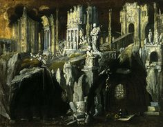 Fantastic Architectural Landscape with a Tormented Prophet (1624) - François de Nomé / Monsù Desiderio