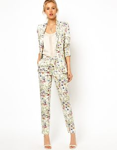 Asos premium pants in floral print