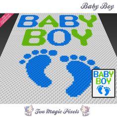 Baby Boy C2C Crochet Graph   Craftsy